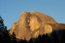 Sunset on Half Dome. Yosemite National Park, California, USA. - Photo #4759