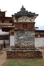 Chorten at Chimi Lhakhang. Lobesa valley, Bhutan. - Photo #23606