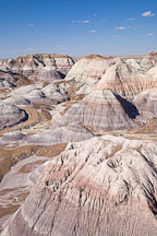 Erosion and weathering of Blue Mesa Hills. Petrified Forest NP, Arizona. - Photo #18006