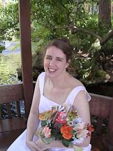 Kara Sjoblom with flower bookquet. - Photo #2160
