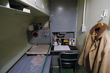 Captain's quarters. USS COD SS-224 World War II Fleet Submarine. Cleveland, Ohio, USA. - Photo #4160