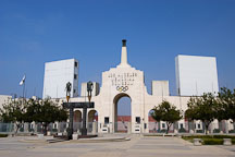 Los Angeles Memorial Coliseum and Olympic Gateway by Robert Graham. Exposition Park, Los Angeles, California, USA. - Photo #6760
