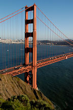 Golden Gate Bridge's north tower. San Francisco, California. - Photo #2760