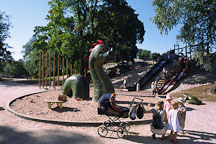 Sea dragon in Kaivopuisto park. Helsinki, Finland. - Photo #360