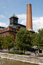 Smokestack at Baltimore Public Works Museum. Baltimore, Maryland, USA. - Photo #3860