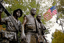 Three Servicemen Statue at the Vietnam Veterans Memorial. Washington, D.C. - Photo #10860