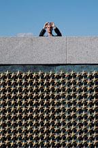 Tourist photographing the National World War II Memorial. Washington, D.C., USA. - Photo #11460