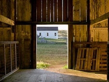 Doorway of the hay barn at Pierce Point Ranch, California. - Photo #25661