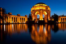Reflection in the lagoon of the Palace of Fine Arts. San Francisco, California. - Photo #28961