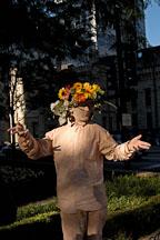 Street performer. Chicago, Illinois, USA. - Photo #10461