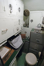 Yeoman's office. USS COD SS-224 World War II Fleet Submarine. - Photo #4161