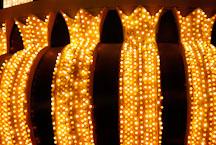 Close-up of lights. Fremont Street, Las Vegas, Nevada, USA. - Photo #13762