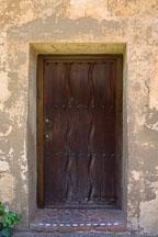 Heavy wooden door. Carmel Mission, Carmel, California, USA. - Photo #262