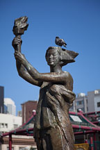 Statue of the Goddess of Democracy. Portsmouth Square, San Francisco. - Photo #22162