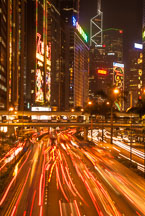 Gloucester Road at night. Hong Kong. - Photo #14663