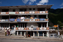 Building with stores on Norzin Lam. Thimphu, Bhutan. - Photo #22363