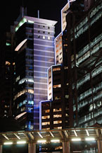 HSBC Building at night. Hong Kong, China. - Photo #14963