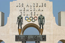 Los Angeles Memorial Coliseum and Olympic Gateway by Robert Graham. Exposition park, Los Angeles, California, USA. - Photo #6763