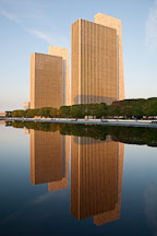 Sunrise at Empire State Plaza. Albany, New York. - Photo #20063