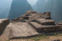 Carved stone altar. Machu Picchu. Peru. - Photo #10064