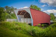 Cedar bridge. Madison County, Iowa. - Photo #32964