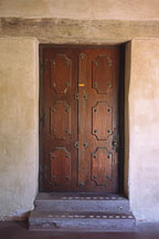 Closed door at the Carmel Mission. Carmel, California, USA. - Photo #264
