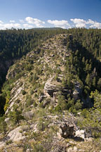 The Island Trail encircles the mesa at Walnut Canyon. Walnut Canyon NM, Arizona. - Photo #17864