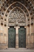 Saint Vitus cathedral bronze door. Prague Castle, Czech Republic. - Photo #29664