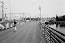 Woman running. Helsinki, Finland - Photo #3164