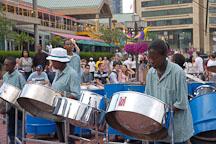 Steel orchestra, Baltimore, Maryland, USA. - Photo #3964
