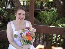 Kara Sjoblom with flower bookquet. - Photo #2165
