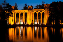 Colonnades at the Palace of Fine Arts. San Francisco, California. - Photo #28965