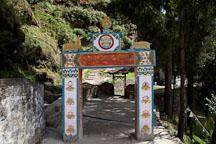 Entrance gateway to Cheri monastery. Thimphu valley, Bhutan. - Photo #23065