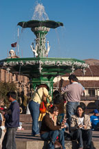 Fountain in Plaza de Armas. Cusco, Peru. - Photo #9265