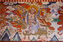 Painting at Gangte Goemba. Phobjikha Valley, Bhutan. - Photo #23765