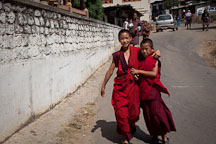 Young Buddhist monks. Wangdue Phodrang, Bhutan. - Photo #23665