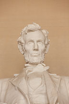 Close-up of Lincoln. Lincoln Memorial, Washington, D.C. - Photo #29066