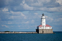 Chicago harbor lighthouse. Chicago, Illinois, USA. - Photo #10566