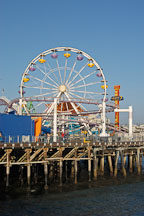 Ferris wheel, Santa Monica Pier. Santa Monica, California, USA. - Photo #8266