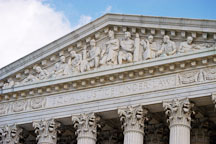 Facade of the U.S. Supreme Court. Washington, D.C., USA. - Photo #11266