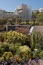 Central garden, Getty Center. Los Angeles, California, USA. - Photo #8166
