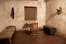 Junipero Serra's cell. Carmel Mission, California. - Photo #26866