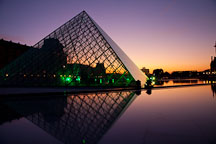 Louvre pyramid by IM Pei. Paris, France. - Photo #31666
