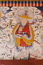 Wall painting at Gangte Goemba. Phobjikha Valley, Bhutan. - Photo #23766