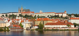 Panorama of Prague Castle and Vltava river. Prague, Czech Republic. - Photo #29966