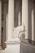 Supreme Court statue Authority of Law. Washington, D.C. - Photo #29166