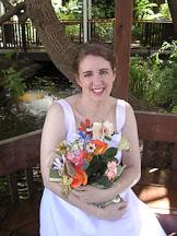 Kara Sjoblom with flower bookquet. - Photo #2167