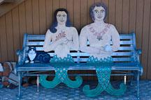 Mermaid and Merman bench. Avalon, Catalina Island, California - Photo #567