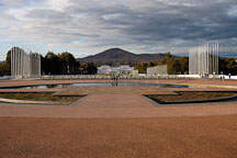 Mt. Ainslie viewed from the entrance of the Parliament House. Canberra, Australia. - Photo #1467