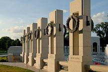 Pillars at National World War II Memorial. Washington, D.C., USA. - Photo #12767
